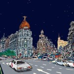 Madrid Alcalá noche